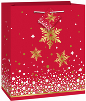 Gold Sparkle Christmas Medium Gift Bag